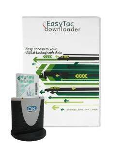 EasyTac software di gestione del tachigrafo digitale con lettore di smart card verticale Omnikey 3121-0