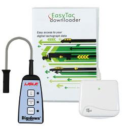 Software Scarico Cronotachigrafo Easytac + Lettore di Smart Card Orizzontale bit4id Minilector Evo + Unità Digidown-0